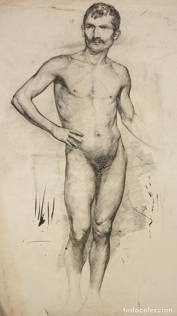 Arte: ANONIMO DE LA 2ª MITAD DEL SIGLO XIX. DIBUJO A DOBLE CARA CON ENCUADERNACION ISABELINA - Foto 3 - 213132871