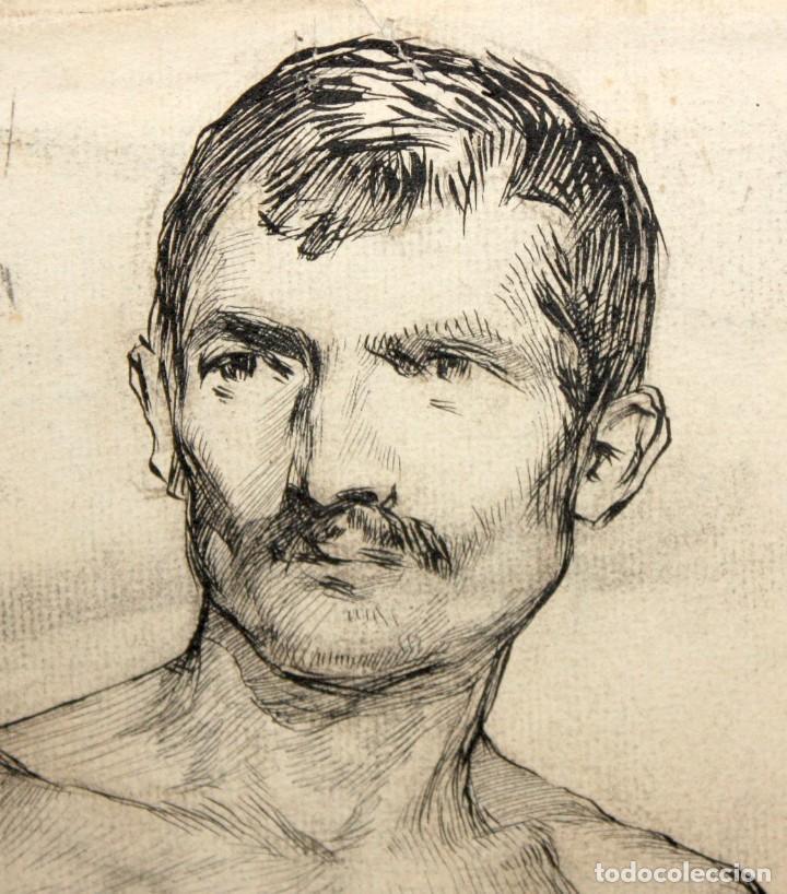 Arte: ANONIMO DE LA 2ª MITAD DEL SIGLO XIX. DIBUJO A DOBLE CARA CON ENCUADERNACION ISABELINA - Foto 5 - 213132871