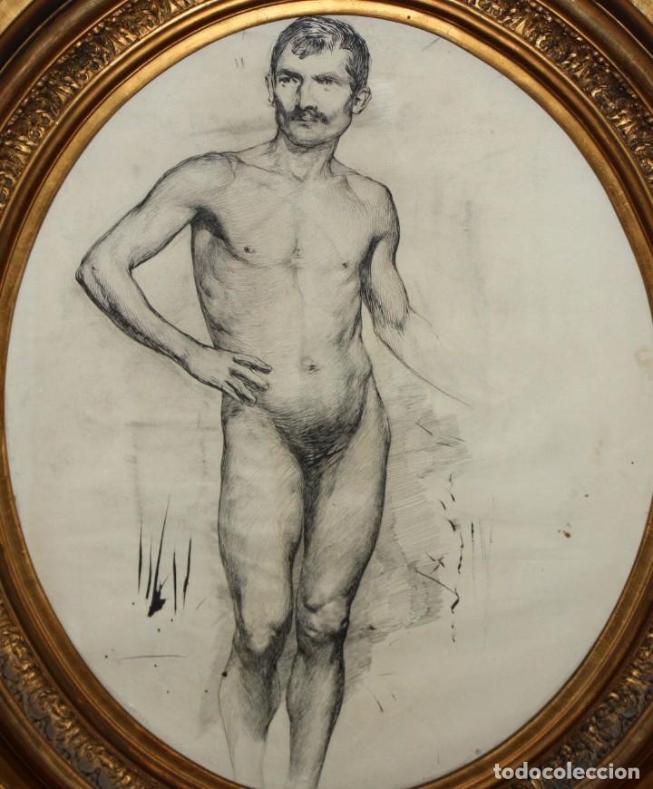 Arte: ANONIMO DE LA 2ª MITAD DEL SIGLO XIX. DIBUJO A DOBLE CARA CON ENCUADERNACION ISABELINA - Foto 2 - 213132871