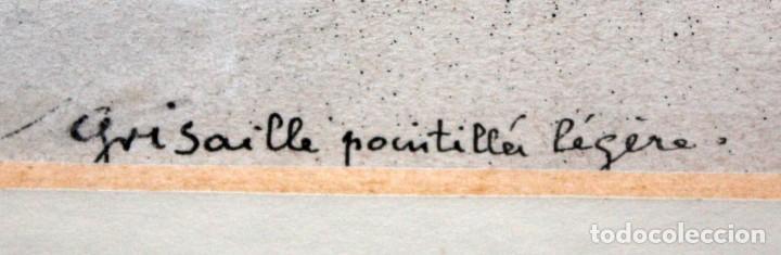Arte: GEORGES DRECHSLER (Francia, Act. princ. Sg. xx) TECNICA MIXTA SOBRE PAPEL DEL AÑO 1914 - Foto 6 - 213133778