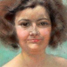 Arte: ANONIMO DE APROXIMADAMENTE 1940. DIBUJO A PASTEL. RETRATO FEMENINO. Lote 213255748