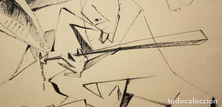 Arte: EVARIST VALLES (Pierola, Barcelona, 1923) DIBUJO A TINTA DE AIRE SURREALISTA. FECHADO EN PARIS. 1951 - Foto 6 - 213257306