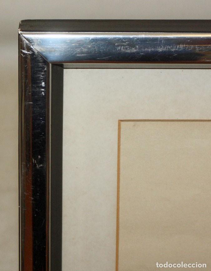 Arte: EVARIST VALLES (Pierola, Barcelona, 1923) DIBUJO A TINTA DE AIRE SURREALISTA. FECHADO EN PARIS. 1951 - Foto 8 - 213257306