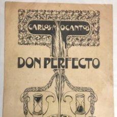 Arte: TRIADÓ. DIBUJO ORIGINAL. CUBIERTA DEL LIBRO DON PERFECTO, DE CARLOS OCANTOS. PARA MONTANER Y SIMON.. Lote 213305592