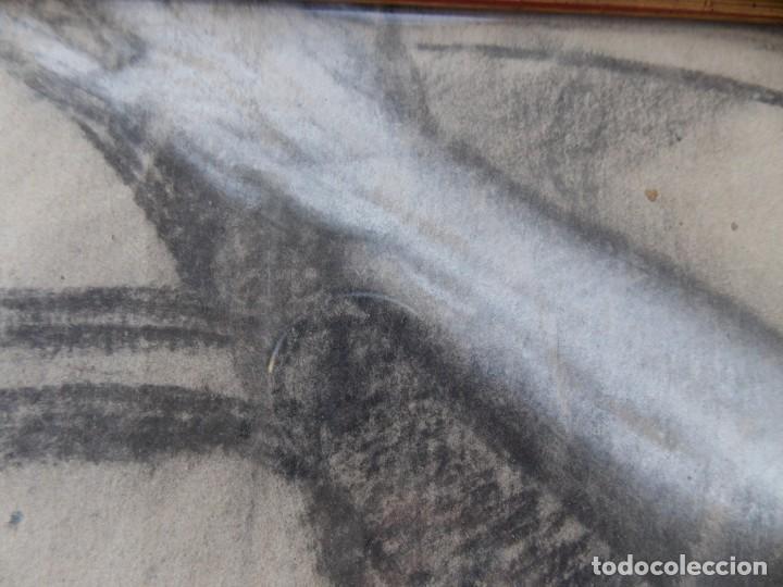 Arte: IMPRESIONANTE DIBUJO SOBRE PAPEL TORSO MASCULINO DE RAMON STOLZ VICIANO - CERTIFICADO - - Foto 3 - 213372506