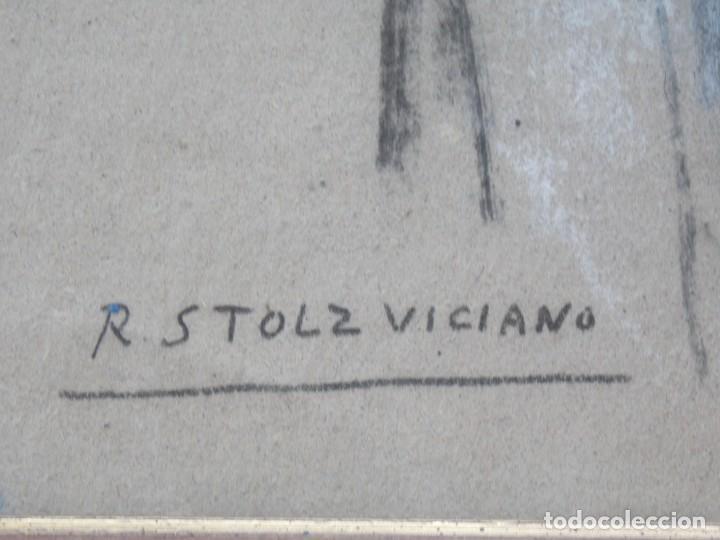 Arte: IMPRESIONANTE DIBUJO SOBRE PAPEL TORSO MASCULINO DE RAMON STOLZ VICIANO - CERTIFICADO - - Foto 4 - 213372506