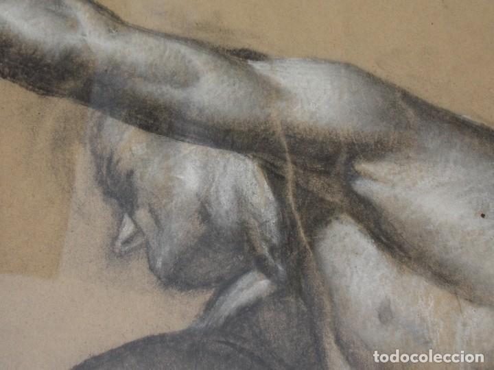 Arte: IMPRESIONANTE DIBUJO SOBRE PAPEL TORSO MASCULINO DE RAMON STOLZ VICIANO - CERTIFICADO - - Foto 9 - 213372506