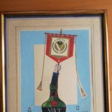 Arte: ARCADIO ORPI DIBUJO TÉCNICA MIXTA SOBRE CARTULINA DEL AÑO 1984. PINTOR NACIDO EN BARCELONA EN 1933. Lote 213478820