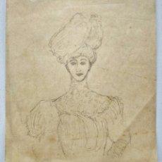Arte: INTERESANTE Y BONITO RETRATO DE UNA JOVEN, POSIBLEMENTE DE FINALES DEL SIGLO XIX, ART NOVEAU. Lote 213641966