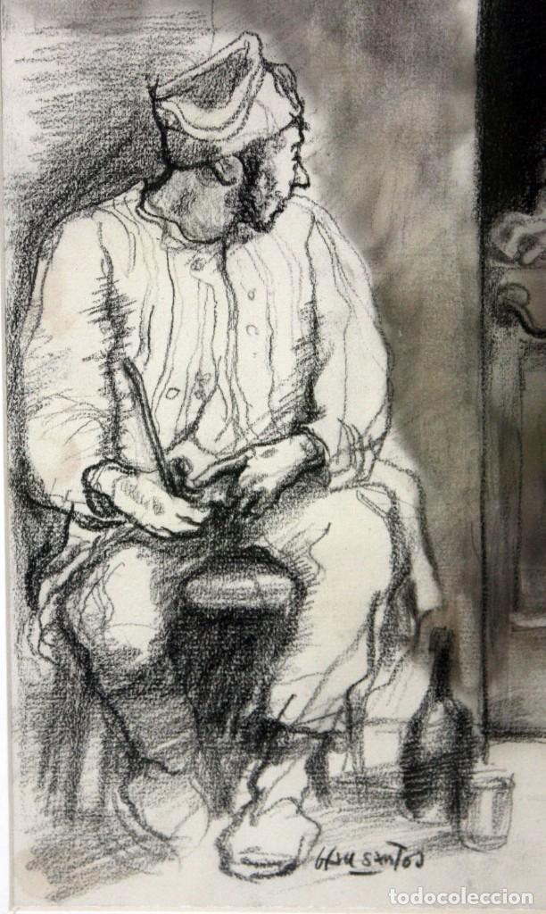 Arte: JULIÁN GRAU SANTOS (Canfranc, Huesca, 1937) TECNICA MIXTA SOBRE PAPEL. AÑOS 70 - Foto 3 - 213684881