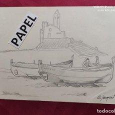 Arte: DIBUJO ORIGINAL A LAPIZ. FIRMADO. O. JUNYENT. Lote 213887861