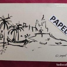 Arte: DIBUJO ORIGINAL TINTA CHINA . FIRMADO. O. JUNYENT. Lote 213888823