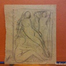 Arte: ORIGINAL. OBRA DE FRANCESC GASSÓ. MUJERES. MEDIDAS 15*13 CM. Lote 214196532