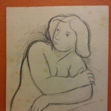 Arte: ORIGINAL. OBRA DE FRANCESC GASSÓ. MUJERES. MEDIDAS 18*14 CM. Lote 214196652