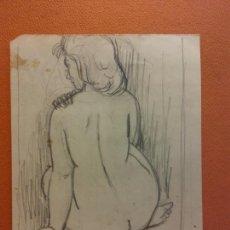 Arte: ORIGINAL. OBRA DE FRANCESC GASSÓ. MUJERES. MEDIDAS 18*14 CM. Lote 214196733