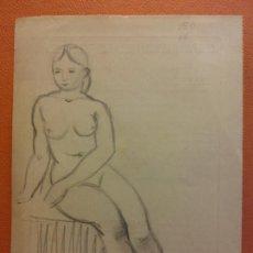 Arte: ORIGINAL. OBRA DE FRANCESC GASSÓ. MUJERES. MEDIDAS 21*15 CM. Lote 214197146