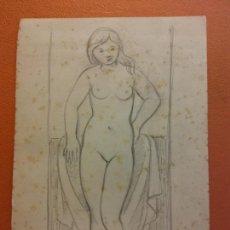 Arte: ORIGINAL. OBRA DE FRANCESC GASSÓ. MUJER. MEDIDAS 24*16 CM. Lote 214197647