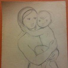 Arte: ORIGINAL. OBRA DE FRANCESC GASSÓ. ARTE RELIGIOSO. MEDIDAS 15*21 CM.. Lote 214278926