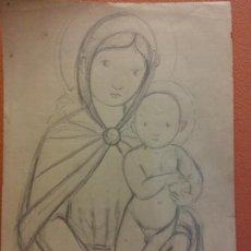 Arte: ORIGINAL. OBRA DE FRANCESC GASSÓ. ARTE RELIGIOSO. MEDIDAS 15*21 CM.. Lote 214278942