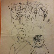 Arte: ORIGINAL. OBRA DE FRANCESC GASSÓ. ARTE RELIGIOSO. MEDIDAS 15*21 CM.. Lote 214278978