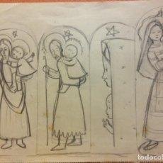Arte: ORIGINAL. OBRA DE FRANCESC GASSÓ. ARTE RELIGIOSO. MEDIDAS 15*21 CM.. Lote 214279012