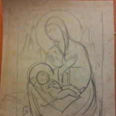 Arte: ORIGINAL. OBRA DE FRANCESC GASSÓ. ARTE RELIGIOSO. MEDIDAS 15*21 CM.. Lote 214279025