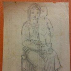 Arte: ORIGINAL. OBRA DE FRANCESC GASSÓ. ARTE RELIGIOSO. MEDIDAS 15*21 CM.. Lote 214279051