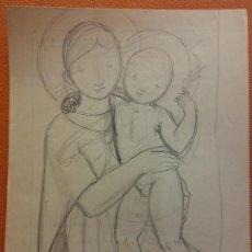 Arte: ORIGINAL. OBRA DE FRANCESC GASSÓ. ARTE RELIGIOSO. MEDIDAS 15*21 CM.. Lote 214279080