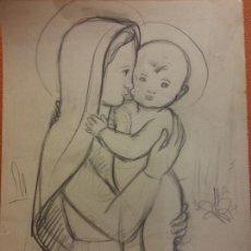 Arte: ORIGINAL. OBRA DE FRANCESC GASSÓ. ARTE RELIGIOSO. MEDIDAS 15*21 CM.. Lote 214279103