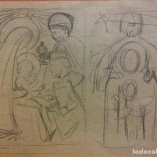 Arte: ORIGINAL. OBRA DE FRANCESC GASSÓ. ARTE RELIGIOSO. MEDIDAS 15*21 CM.. Lote 214279125
