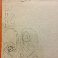 Arte: ORIGINAL. OBRA DE FRANCESC GASSÓ. ARTE RELIGIOSO. MEDIDAS 15*21 CM.. Lote 214279147