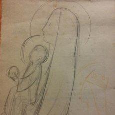 Arte: ORIGINAL. OBRA DE FRANCESC GASSÓ. ARTE RELIGIOSO. MEDIDAS 15*21 CM.. Lote 214279238