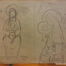 Arte: ORIGINAL. OBRA DE FRANCESC GASSÓ. ARTE RELIGIOSO. MEDIDAS 15*21 CM.. Lote 214279256