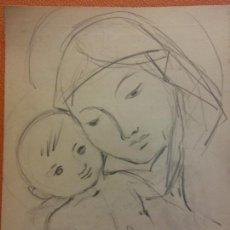Arte: ORIGINAL. OBRA DE FRANCESC GASSÓ. ARTE RELIGIOSO. MEDIDAS 15*21 CM.. Lote 214279318