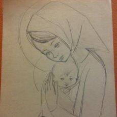 Arte: ORIGINAL. OBRA DE FRANCESC GASSÓ. ARTE RELIGIOSO. MEDIDAS 15*21 CM.. Lote 214280950