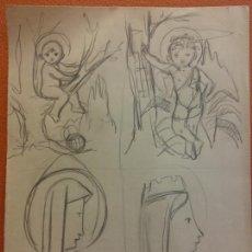Arte: ORIGINAL. OBRA DE FRANCESC GASSÓ. ARTE RELIGIOSO. MEDIDAS 15*21 CM.. Lote 214281850