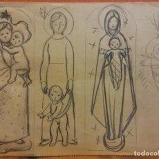 Arte: ORIGINAL. OBRA DE FRANCESC GASSÓ. ARTE RELIGIOSO. MEDIDAS 15*21 CM.. Lote 214281895