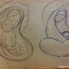 Arte: ORIGINAL. OBRA DE FRANCESC GASSÓ. ARTE RELIGIOSO. MEDIDAS 15*21 CM.. Lote 214281916