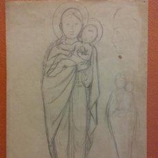 Arte: ORIGINAL. OBRA DE FRANCESC GASSÓ. ARTE RELIGIOSO. MEDIDAS 15*21 CM.. Lote 214281961