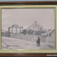 Arte: VISTA DE CASTALLA. ELISEO ESTEVE CANDELA (1925). Lote 214456842