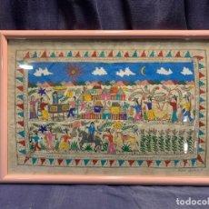Arte: DIBUJO GOUACHE PAPEL VEGETAL MEXICO NAIF MIGUEL ASCENCIO PEDRO MEJICO AÑOS 60 70 42X62CMS. Lote 214484733