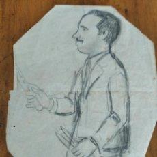 Arte: LLUIS MORATO. DIBUJO A LAPIZ- EL CABALLERO DE LOS CUCHILLOS. Lote 214555572