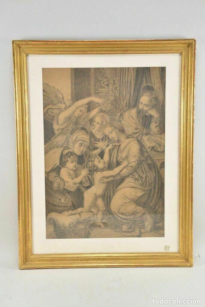 RENACIMIENTO ITALIANO DIBUJO A LAPIZ ESCENA BÍBLICA (Arte - Dibujos - Antiguos hasta el siglo XVIII)