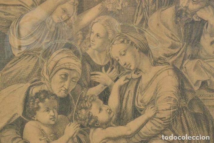 Arte: Renacimiento italiano dibujo a lapiz escena bíblica - Foto 3 - 214591886