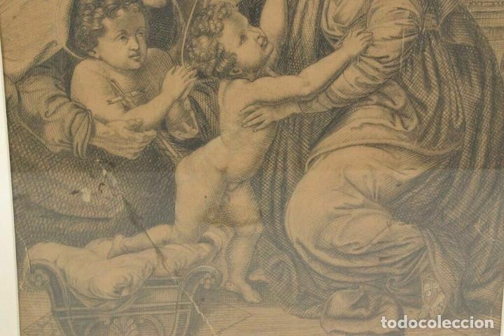 Arte: Renacimiento italiano dibujo a lapiz escena bíblica - Foto 4 - 214591886