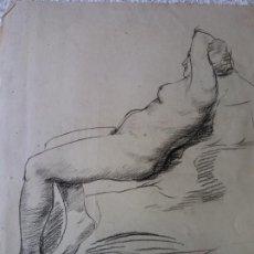 Arte: ORIGINAL. OBRA DE FRANCESC GASSÓ. MUJER. MEDIDAS 35*40 CM. Lote 215264913