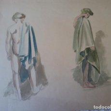 Arte: ORIGINAL. OBRA DE FRANCESC GASSÓ. MUJER. MEDIDAS 30*47 CM. Lote 215265075