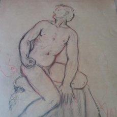 Art: ORIGINAL. OBRA DE FRANCESC GASSÓ. HOMBRE. MEDIDAS 33*52 CM. Lote 215265820