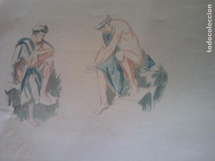 ORIGINAL. OBRA DE FRANCESC GASSÓ. HOMBRE. MEDIDAS 30*47 CM (Arte - Dibujos - Contemporáneos siglo XX)