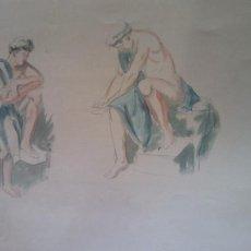 Arte: ORIGINAL. OBRA DE FRANCESC GASSÓ. HOMBRE. MEDIDAS 30*47 CM. Lote 215266887